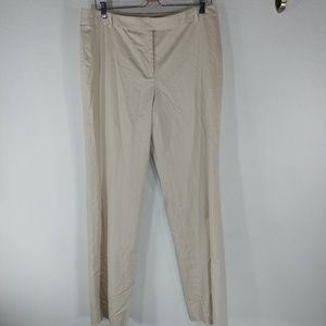 Ann Taylor size 12 striped trousers cream career